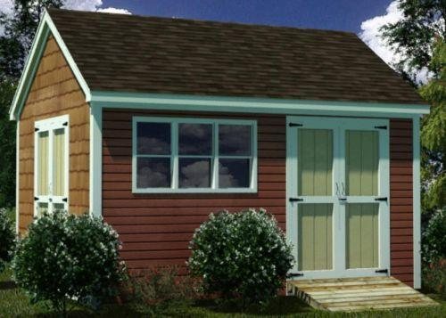 Do It Yourself Home Design: 12x16 Storage Shed