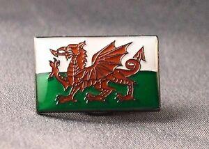 Metal Enamel Pin Badge Brooch Flag Wales Cymru or Y Ddraig Welsh National Flag
