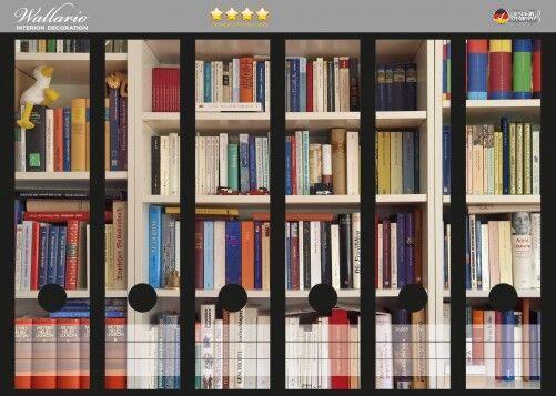 Wallario Ordnerrücken Selbstklebend Für 6 Breite Ordner Weißes Bücherregal Buch