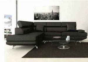 $$$CANADA DAY Sale*brand new Modern sectional leather sofa (black/ white/ brown)-NO TAX