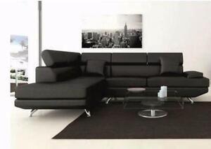 $$$ BIG SUMMER Sale*brand new Modern sectional leather sofa (black/ white/ brown)