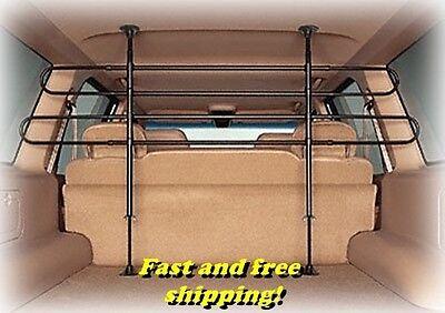 Pet Divider (Universal Pet Barrier divider, Black Car Auto SUV Dog Transportation Fence New! )