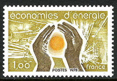 France 1607, MNH. Energy Conservation. Source of Heat and Light, 1978