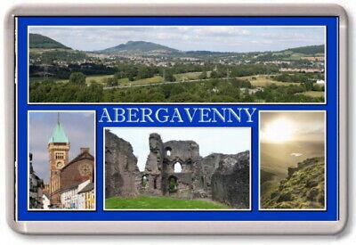 FRIDGE MAGNET - ABERGAVENNY - Large - Monmouthshire TOURIST
