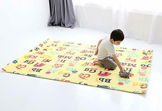 Baby Care Play Mat Letters & Numbers Grey Large