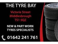 CHEAPEST TYRES ! ALL SIZES IN STOCK NEW & PART WORN MIDDLESBROUGH