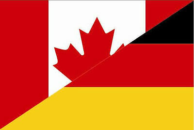 Aufkleber Kanada-Deutschland Flagge Fahne 15 x 10 cm Autoaufkleber Sticker (Autofahne Kanada)