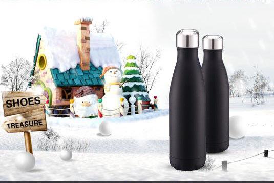 Edelstahl-Trinkflasche Isolierflasche Thermosflasche Thermoskanne Wasserflasche