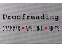 Proofreading, Text Correction and Editing Services Offered