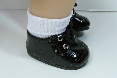 BLACK Patent Boy Dress Up Doll Shoes For 15