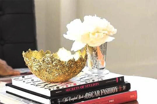 Diy glitter accent bowl ebay for Glitter balloon bowl