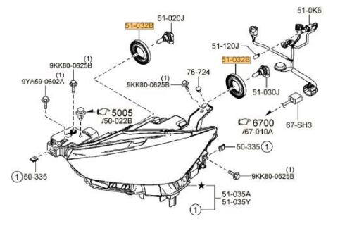 Wiring Diagram Database: Mazda 3 Headlight Assembly Diagram