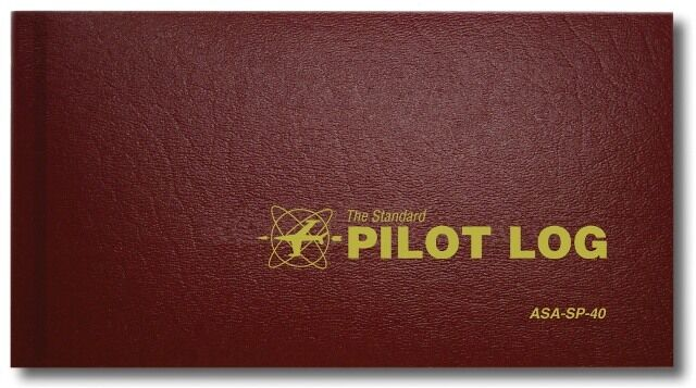 NEW - ASA Standard Pilot Log - Burgundy | ASA-SP-40 | Pilot Logbook