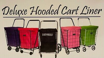 Deluxe Hooded Cart Liner Fits Jumbo Carts Shopping Laundry Maintenance Organize