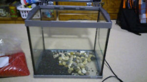 6 gallon tetra tank comes with everything just add fish!