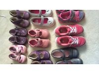 Various girl's shoes