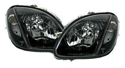 Scheinwerfer Set in Schwarz für Mercedes SLK R170 170 96-04 + Blinker + ADAPTER