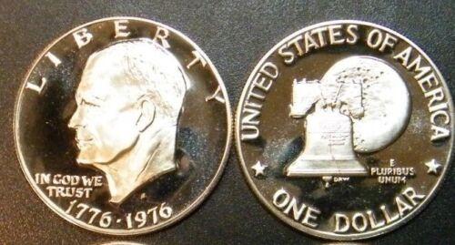 1976 S Eisenhower Dollar Type 2 Gem Cameo Clad Proof Coin Ike Set US Mint