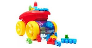 Mega Blocks First Builders Block Scooping Wagon