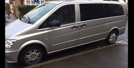 Mercedes VITO 116 CDI XLWB with WARRANTY, AUTO, FULL AC, TINTED WINDOWS. As NEW Viano V Class