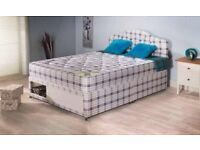 Double divan mattress and base