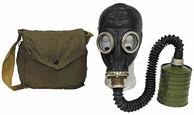 Soviet Surplus Russian SCHM-41M Gas Mask with Filter, Hose & Bag -  NEW Unissued