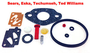 Eska Sears Ted Williams Tecumseh Outboard Motor Carb Carburetor Kit 1961- 1987