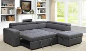 **WEEKEND SPECIAL**COMFY,BEAUTIFUL Sectional with Pull-out Sofa