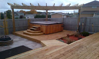 NUWOOD - DECK, FENCE, PERGOLA + POST HOLE DRILLING & SETTING