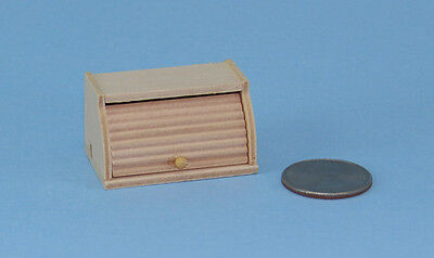 AWESOME Dollhouse Miniature Wooden Roll Top Bread Box for Kitchen #IM65430
