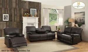 Dark Brown 3 PC motion recliner set (MA822)