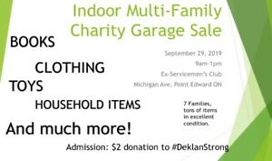 Indoor Charity Garage Sale!