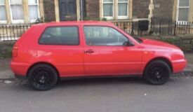 VW Golf, Mk 3, Red, Low Mileage, MOT Feb 2019, Excellent Condition