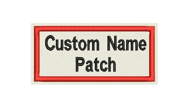 """Rectangle Custom Embroidered Name Tag, Biker Patch, badge 4"""" x 2"""""""