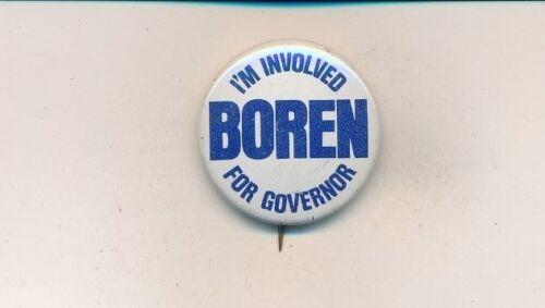"""1974 David Boren for governor 1 1/8"""" litho Oklahoma OK campaign button"""