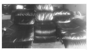 3 seat leather recliner