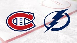Billet de hockey: Montréal vs Tampa Bay, 3 novembre