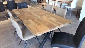 Table de cuisine en bois de manguier massif rustique 70 x 36
