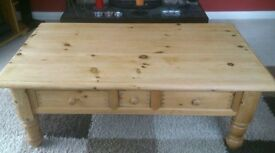 Ducal Solid Pine Coffee Table with 3 Drawers