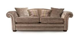 4 seater pillow back sofa, arm chair & foot stool