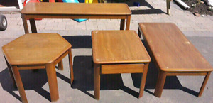4 Piece Matching Coffee Table Set
