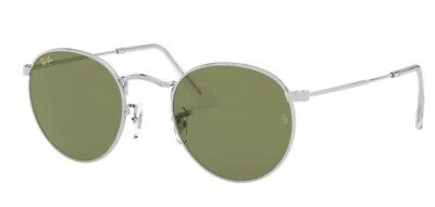 Occhiali sole Ray Ban ROUND METAL RB3447 9198/4E 47 Silver Green (Ray Ban Bottle Green)