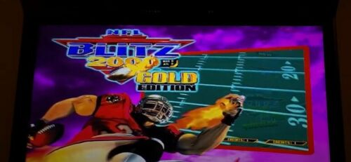NFL BLITZ 2000 GOLD JAMMA BOARD WORKS 100% NEW BATTERY ,DRIVE,CHIPS LOOK!