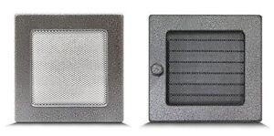 grille d 39 a ration chemin e lamelles obturables en inox. Black Bedroom Furniture Sets. Home Design Ideas
