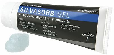 Medline Silvasorb Gel Silver Hydrogel Wound Dressing   25 Oz Tube  Msc93025ep