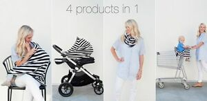Car seat cover for infant+ MULTI USE SCARF Cambridge Kitchener Area image 1