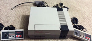 Nintendo NES With 2 Controllers and 10 Games