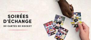 Soirées d'échange de Cartes de Hockey dans nos Tim Hortons