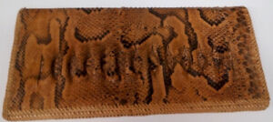 *****Snakeskin Leather Clutch – NEW*****