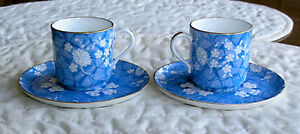 Copeland Demitausse Cup and saucer (Two Sets)